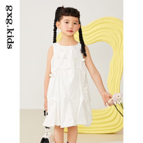 Dress White a white B female gxg kids 110/56 120/60 130/64 140/64 150/68 Cotton 100% spring and autumn leisure time Pure cotton (100% cotton content) other KC235001A Class B Spring 2021