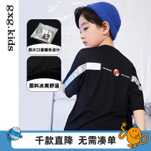 T-shirt Black a black B gxg kids 110/56 120/60 130/64 140/64 150/68 male spring and autumn Short sleeve Crew neck There are models in the real shooting nothing Cotton blended fabric other Cotton 93% polyurethane elastic fiber (spandex) 7% 12C144010B Class B Spring 2021 Chinese Mainland