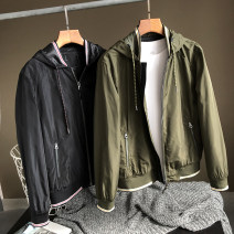 Jacket Other / other Fashion City Black, army green routine standard Other leisure spring Long sleeves Wear out Hood youth routine Zipper placket 2020