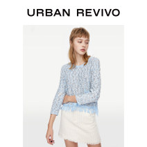 T-shirt Light blue polychrome S XS L M Spring 2020 Long sleeves Crew neck easy Regular routine Viscose 71% (inclusive) - 85% (inclusive) 25-29 years old UR 1YL01R9BF2003 Viscose fiber (viscose fiber) 72% polyester fiber 27% metal coated fiber 1% Same model in shopping mall (sold online and offline)