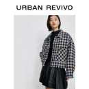 short coat Winter 2020 S L M Black gray check Long sleeves routine 25-29 years old UR 96% and above polyester fiber Polyester 100% Same model in shopping mall (sold online and offline)