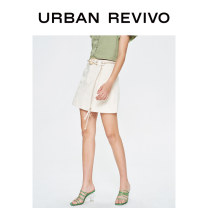 skirt Spring 2020 S XL L M XXL ivory Short skirt Natural waist 25-29 years old More than 95% UR cotton Cotton 100% Same model in shopping mall (sold online and offline)