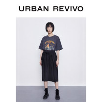 skirt Summer 2020 S XL L M XXL Mid length dress Natural waist 25-29 years old 91% (inclusive) - 95% (inclusive) UR polyester fiber Polyester 92% polyurethane elastic fiber (spandex) 8% Same model in shopping mall (sold online and offline)