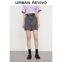 skirt Summer 2021 XXS S XS L M Medium grey Short skirt Natural waist 25-29 years old WJ16SBLN2000 More than 95% UR cotton Cotton 100% Same model in shopping mall (sold online and offline)