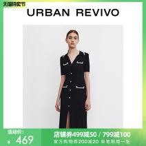 Dress Summer 2021 It's black S XL XS L M Mid length dress Short sleeve Polo collar 25-29 years old UR WG12S9FN2005 30% and below nylon Viscose (viscose) 80% polyamide (PA) 20% Same model in shopping mall (sold online and offline)