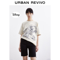 T-shirt ivory S XS L M Summer 2021 Short sleeve Crew neck Regular other cotton 96% and above 25-29 years old UR YU14S4ME2000 Cotton 100% Same model in shopping mall (sold online and offline)