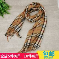Scarf / silk scarf / Shawl polyester Spring and autumn, winter currency Scarves / scarves keep warm Korean version rectangle Students, children: 7-14 years old, parent-child, couple, youth, youth, middle age, old age lattice tassels 30cm 130cm More than 96%