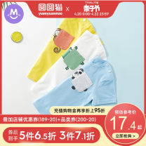 T-shirt Hiding animal blue hiding animal yellow hiding animal powder hiding animal white Round cat 80cm 90cm 100cm 110cm 120cm 130cm neutral summer Short sleeve Crew neck leisure time There are models in the real shooting nothing cotton Cartoon animation P990 Class A hygroscopic and sweat releasing