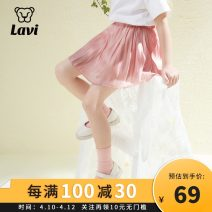 skirt 110 120 130 140 150 160 Pink is white LA.VI female Cotton 100% spring and autumn skirt Korean version other other other Class B Summer 2021