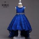 Children's dress Dark blue sky blue black red champagne female 160cm 150cm 140cm 120cm 170cm 130cm M · nollby / milubi full dress 0qNUm Class A other Flax 100%