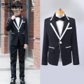 Suit / Blazer 100cm 110cm 120cm 130cm 140cm 150cm 160cm 170cm M · nollby / milubi male There are models in the real shooting Korean version spring and autumn Solid color A button routine Class B Flax 100% 9, 8, 7, 6, 5, 4, 3, 14, 13, 12, 11, 10