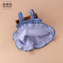 Dress Zipper denim strap skirt female M · nollby / milubi 73cm 80cm 90cm 100cm Other 100% spring and autumn princess Strapless skirt Solid color cotton Denim skirt FvdDk other Winter of 2019 12 months, 12 months, 18 years old