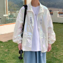 Jacket Other / other Youth fashion white M,L,XL,2XL easy Other leisure summer Long sleeves Wear out Lapel teenagers 2021