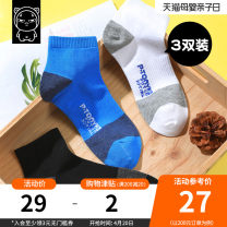 Children's socks (0-16 years old) Medium socks Anti skid medium socks combination L-size pre-sale S code / seven - 10 years old, recommendation 34 - 39 shoes L / Over 10 years old, 40 recommended - Size 44 Tony the pig spring and autumn male Class B N11WZ935 Spring 2021 Simplicity