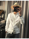 shirt Fashion City He's in a hurry 170/M,175/L,180/XL,185/XXL,190/XXXL,195/XXXXL white routine Pointed collar (regular) Long sleeves Self cultivation Travel? spring youth