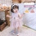 Dress Light purple pink lattice, yellow lattice female Other / other 66cm,73cm,80cm,90cm,100cm Cotton 95% other 5% summer Korean version Skirt / vest lattice cotton Cake skirt Class A 3 months, 12 months, 6 months, 9 months, 18 months, 2 years old, 3 years old