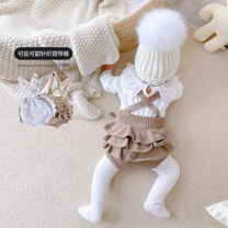 Jumpsuit / climbing suit / Khaki Other / other Class A female Grey, brown 66cm,73cm,80cm,90cm cotton spring and autumn Sleeveless Trigonometry Korean version There are models in the real shooting nothing Other 100% Socket hy77663 3 months, 6 months, 12 months, 9 months Chinese Mainland Shanghai