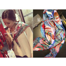 Scarf / silk scarf / Shawl silk Pepper in the same color (in stock) Spring and autumn, summer and winter female Scarves / scarves multi-function Bohemia Large square towel Youth, middle age and old age Animal design 90cm 90cm More than 96%