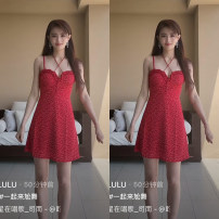 Dress Spring 2021 Picture color S,M,L Short skirt singleton  Sleeveless High waist Dot routine camisole Other / other D2206 51% (inclusive) - 70% (inclusive) other