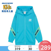 Plain coat SKECHERS / SKECHERS male 110cm 120cm 130cm 140cm 150cm 160cm spring and autumn leisure time Zipper shirt No detachable cap Artificial colored cotton Cotton 75% polyester 25% Class B Spring 2021