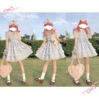 Lolita / soft girl / dress Showa doll M. S, side clip / pair, Bobo inside, KC, Bobo apron Pre sale