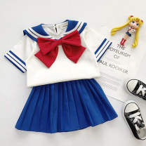 suit Other / other neutral summer college Short sleeve + skirt 2 pieces routine No model Socket nothing Cartoon animation cotton children Giving presents at school Class B Cotton 90% polyester 10% 2 years old, 3 years old, 4 years old, 5 years old, 6 years old, 7 years old, 8 years old
