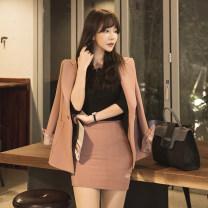 Fashion suit Autumn 2020 S,M,L,XL Black [suit], pink [suit] 18-25 years old