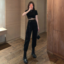 Casual pants S,M,L,XL Summer 2020 trousers Overalls High waist street Thin money 18-24 years old 81% (inclusive) - 90% (inclusive) other pocket Hip hop