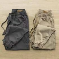 Casual pants Others Fashion City Grey, khaki, black casual pants S,M,L,XL,2XL,3XL,4XL routine trousers Other leisure easy No bullet summer youth tide 2021 middle-waisted Little feet Overalls Pocket decoration No iron treatment Solid color other cotton