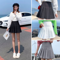 skirt Winter 2020 XS S M L XL 2XL 3XL Short skirt Versatile High waist Pleated skirt Solid color Type A 18-24 years old 91% (inclusive) - 95% (inclusive) other polyester fiber Pleating Polyester 95% polyurethane elastic fiber (spandex) 5% Pure e-commerce (online only)