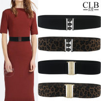 Belt / belt / chain other Black (black button), leopard (black button), black (gold button), leopard (gold button) female belt Versatile Single loop Youth, youth, middle age, old age a hook Glossy surface printing 5cm alloy Bare, embossed, Sequin, elastic, leopard print CLB Yundou YD2134 65cm,75cm