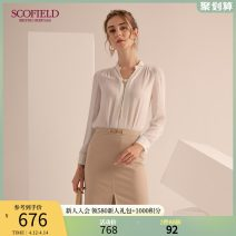 shirt ivory 155 160 165 170 175 Autumn 2020 polyester fiber 96% and above Long sleeves commute Regular other Socket routine Solid color 30-34 years old Straight cylinder SCOFIELD Polyester 100% Same model in shopping mall (sold online and offline)