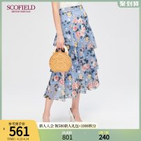 skirt Winter of 2019 155 160 165 170 175 blue Middle-skirt commute Natural waist Cake skirt other 30-34 years old More than 95% SCOFIELD polyester fiber lady Polyester 100% Same model in shopping mall (sold online and offline)