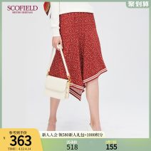 skirt Autumn of 2019 155 160 165 170 175 claret Middle-skirt Natural waist SFWH93707Q More than 95% SCOFIELD polyester fiber Polyester 100% Same model in shopping mall (sold online and offline)