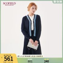 Wool knitwear Winter of 2019 155 160 170 175 165 Navy Blue Long sleeves singleton  Cardigan wool More than 95% Regular routine commute Self cultivation V-neck routine Solid color Single breasted lady SFCK94T01Q 30-34 years old SCOFIELD Wool 100% Same model in shopping mall (sold online and offline)