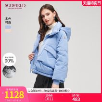 Down Jackets Winter of 2019 SCOFIELD Blue Pink 155 160 170 175 165 White Velvet 90% have cash less than that is registered in the accounts Long sleeves routine commute Straight cylinder 100g (including) - 150g (excluding) lady 96% and above polyester fiber Polyester 100%