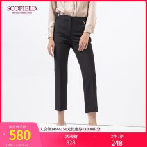 Casual pants black 155 160 165 170 175 180 185 Winter 2020 trousers Straight pants Natural waist 30-34 years old SFTCA4V02Q SCOFIELD Polyester fiber 94% polyurethane elastic fiber (spandex) 6% Same model in shopping mall (sold online and offline)