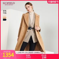 woolen coat Winter of 2019 165 155 160 170 175 wool 95% and above Medium length Long sleeves commute Straight cylinder lady SCOFIELD Wool 100% Same model in shopping mall (sold online and offline)