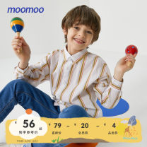 shirt White background yarn dyed stripe set bright white Moomoo male 110/52 110/56 120/60 130/64 140/68 150/72 155/76 spring and autumn Long sleeves leisure time other cotton Cotton 100% Class B