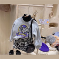 Sweater / sweater Other / other Grey sweater q20381 in stock, zebra skirt q20525 in stock, no belt female Hang tag (1357 / 11 cm), hang tag (1057 / 11 cm), hang tag (150 / 100 cm) winter Korean version Socket Plush No model Cartoon animation