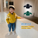 Plain coat Other / other male 80cm,90cm,100cm,110cm,120cm,130cm Yellow, black, green spring and autumn leisure time Zipper shirt There are models in the real shooting routine No detachable cap Solid color chemical fiber Crew neck Contrast sport coat Polyester 100% Class B