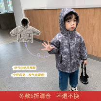 Cotton padded jacket male No detachable cap Cotton 91% - 95% Other / other Light grey, dark grey 80cm,90cm,100cm,110cm,120cm,130cm thickening Zipper shirt leisure time There are models in the real shooting Solid color chemical fiber Class B stand collar Polyester 100% Cotton liner Polyester 100%