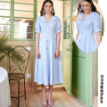 Dress Summer 2020 blue XS,S,M,L,XL Mid length dress singleton  Short sleeve middle-waisted 25-29 years old FORELE FR20SSL146 More than 95% cotton