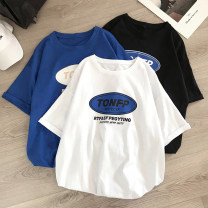 T-shirt Youth fashion Black blue white routine M L XL 2XL 3XL Mu Austin / mudian Short sleeve Crew neck easy Other leisure summer Cotton 100% teenagers routine tide other Summer 2020 other printing cotton Creative interest No iron treatment Pure e-commerce (online only) More than 95%