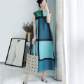 Dress Spring 2021 Neckline green with mint green, neckline gray, neckline Khaki with yellow, neckline royal blue with pink, black coat [only coat], Navy coat [only coat], yellow coat [only coat], red coat [only coat] Average size longuette singleton  Sleeveless commute Half high collar Loose waist