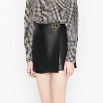skirt Autumn 2020 Xs, s, m, l, XL, XXL, 3XL, support large size customization Black (recommended), black thickened Short skirt Versatile High waist A-line skirt letter Type A 25-29 years old MCICQ3116 More than 95% Sheepskin MCIC Sheepskin Rivet, tridimensional decoration, asymmetry, button, CD
