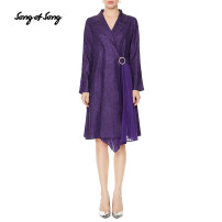 short coat Autumn 2020 Please consult tmall customer service for changing clothes. Don't shoot s / 36 m / 38 L / 40 XL / 42 XXL / 44 deep purple Long sleeves Medium length routine singleton  commute routine tailored collar Buckle Solid color 35-39 years old Song of song 96% and above 5S50307020 other