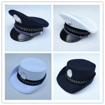 Children's performance clothes Men's white hat women's Blue Hat Women's white hat one piece long sleeve shirt men's blue hat neutral 100cm 110cm 120cm 130cm 140cm 150cm 160cm 007