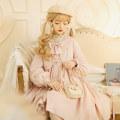 Lolita / soft girl / dress Cat ball line Khaki, cherry pink, mint blue S,M,L Pre sale Lolita, soft girl