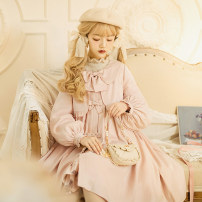 Lolita / soft girl / dress Cat ball line Khaki, cherry pink, mint blue S,M,L Pre sale Lolita, soft girl